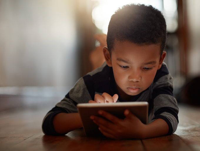 Boy with iPad