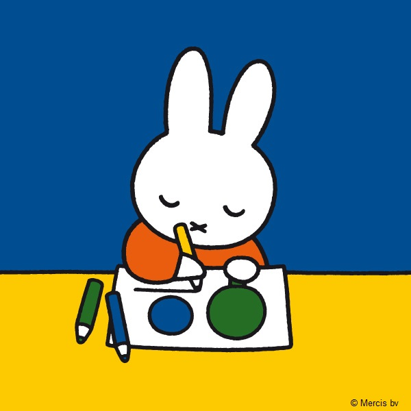 Miffy drawing at school