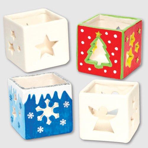 Christmas ceramic tealight