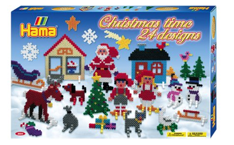 Hama Christmas time bead set