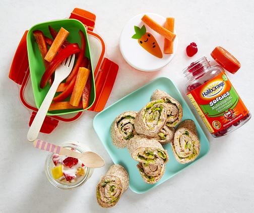 Tuna Tortilla Whirls + Strawberry and Mango Mingle