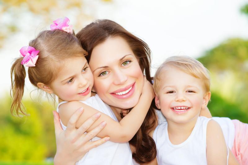 Mum and babies